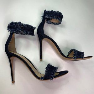 Gianvito Rossi Lola Denim Sandals Size 12